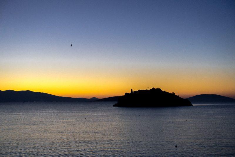 Blick auf das Meer von Tolo