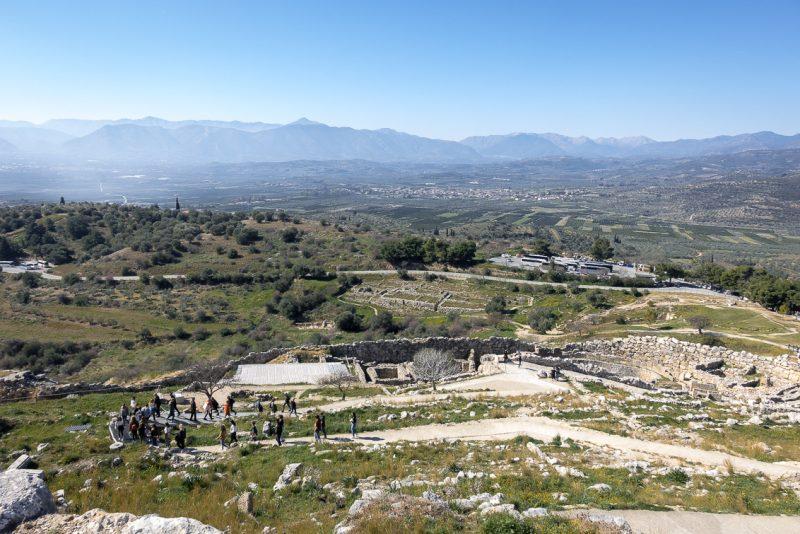 Blick auf Mykene / Peloponnes